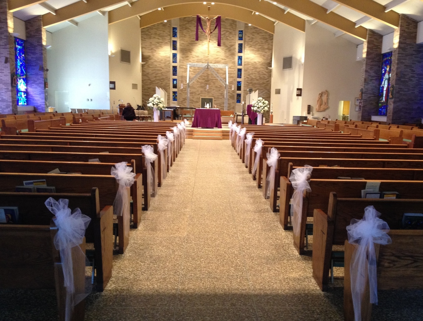 The Aisle at Our Lady of Mercy in Park Ridge, NJ