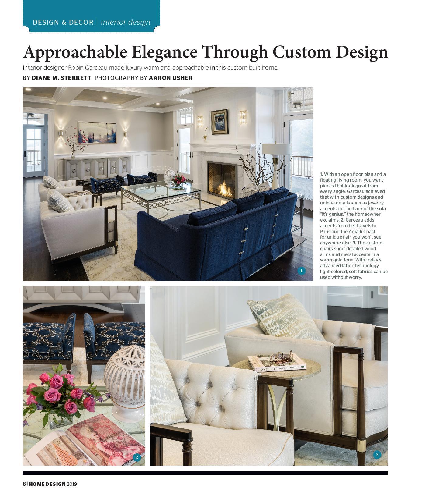 Robin Garceau featured in Rhode Island Home Design Magazine 2019 page 1