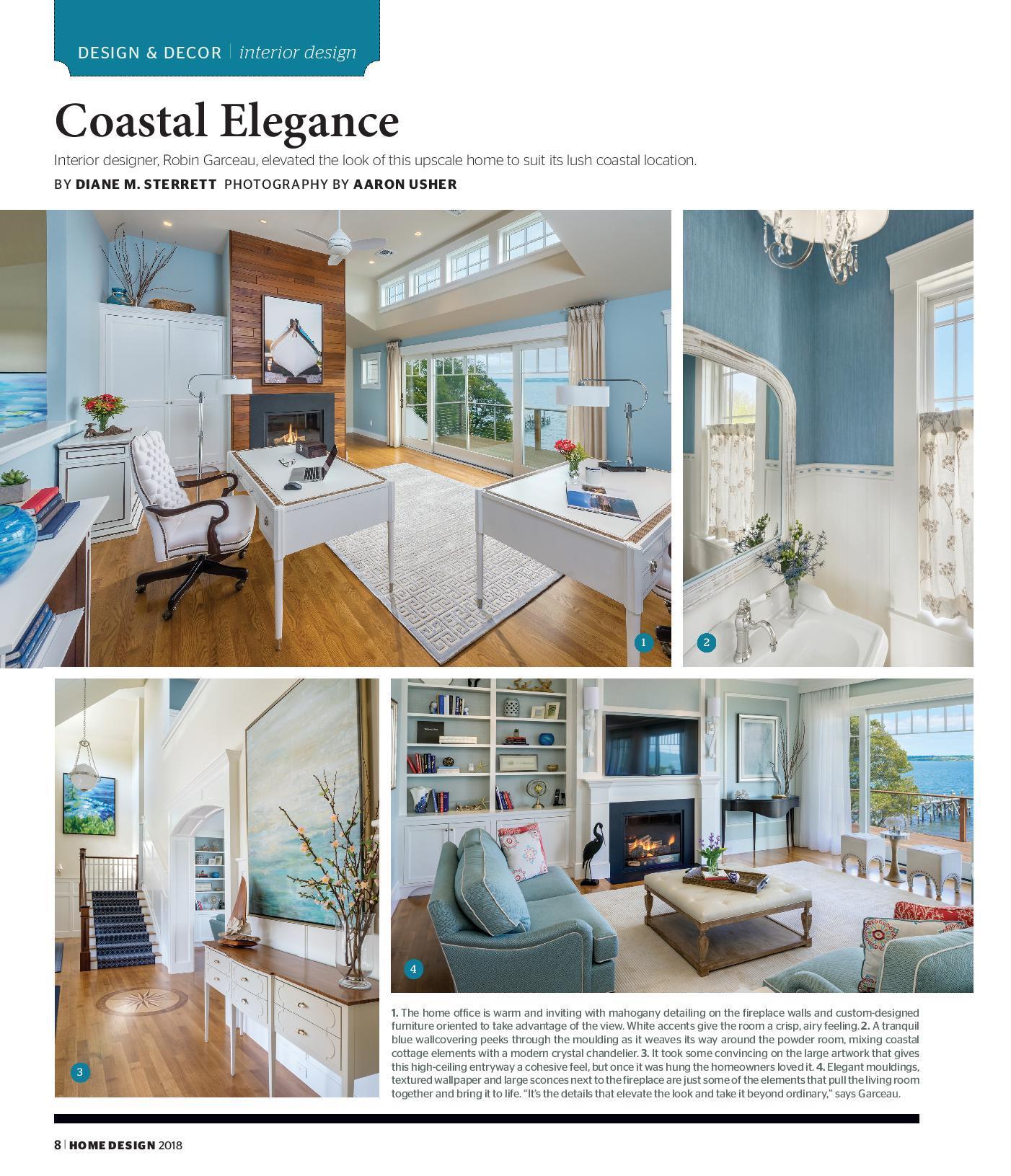 Robin Garceau featured in Rhode Island Home Design Magazine 2018 page 1