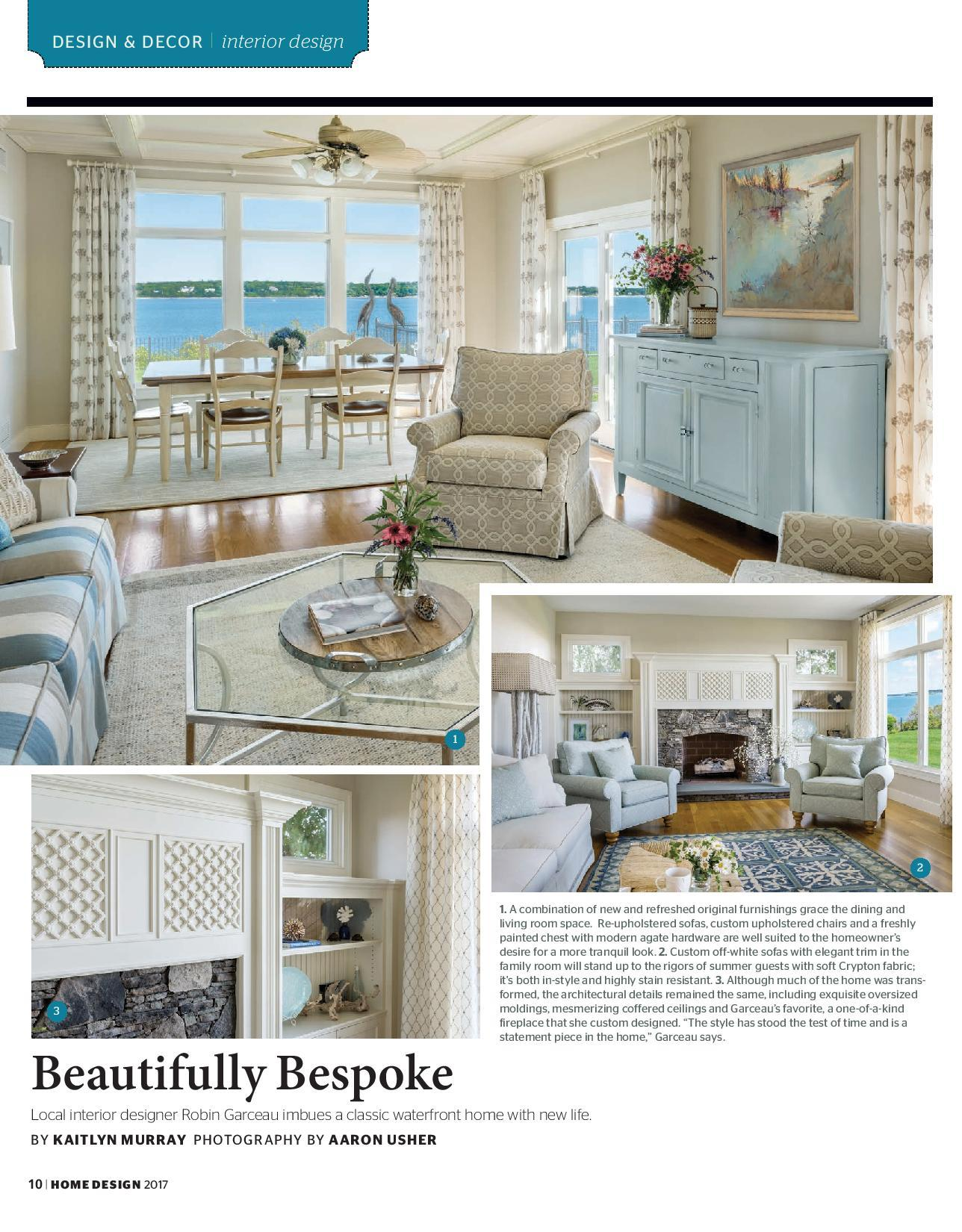 Robin Garceau featured in Rhode Island Home Design Magazine 2017 page 1