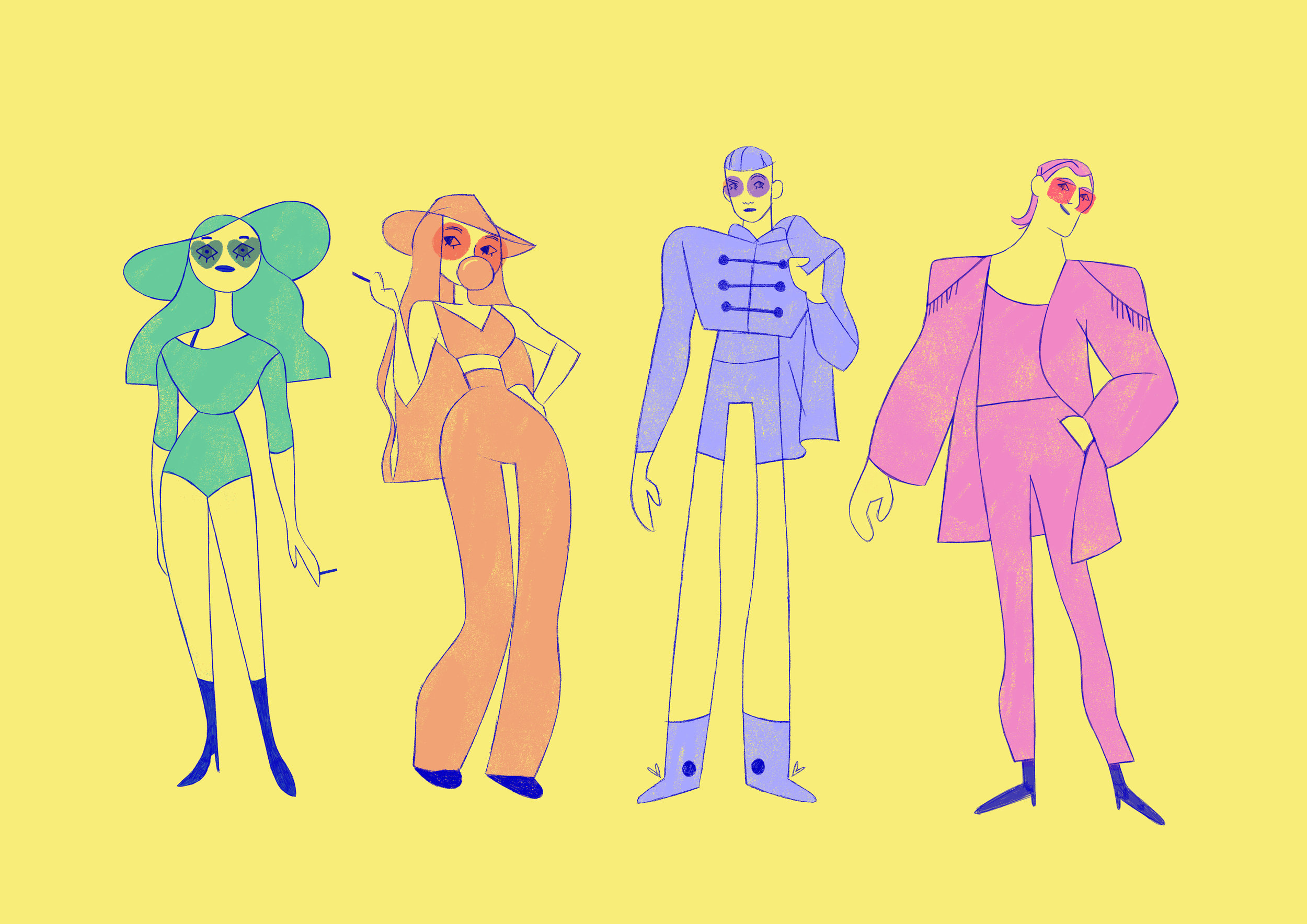 tom-goyon-character-design-queer-80s-band