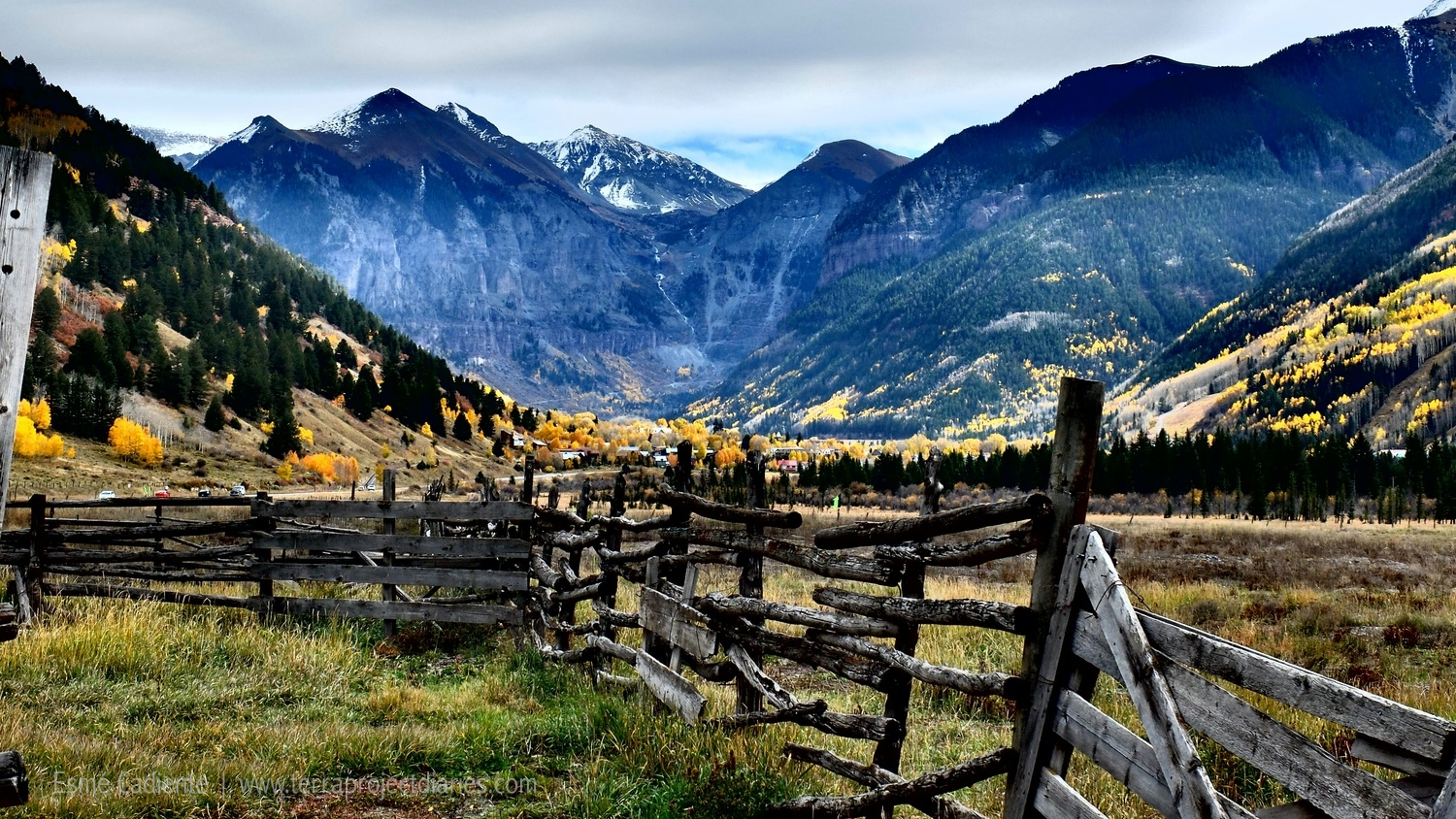 A view of Telluride from the Valley Floor.Photo by EsmeCadiente,The Terra Project.