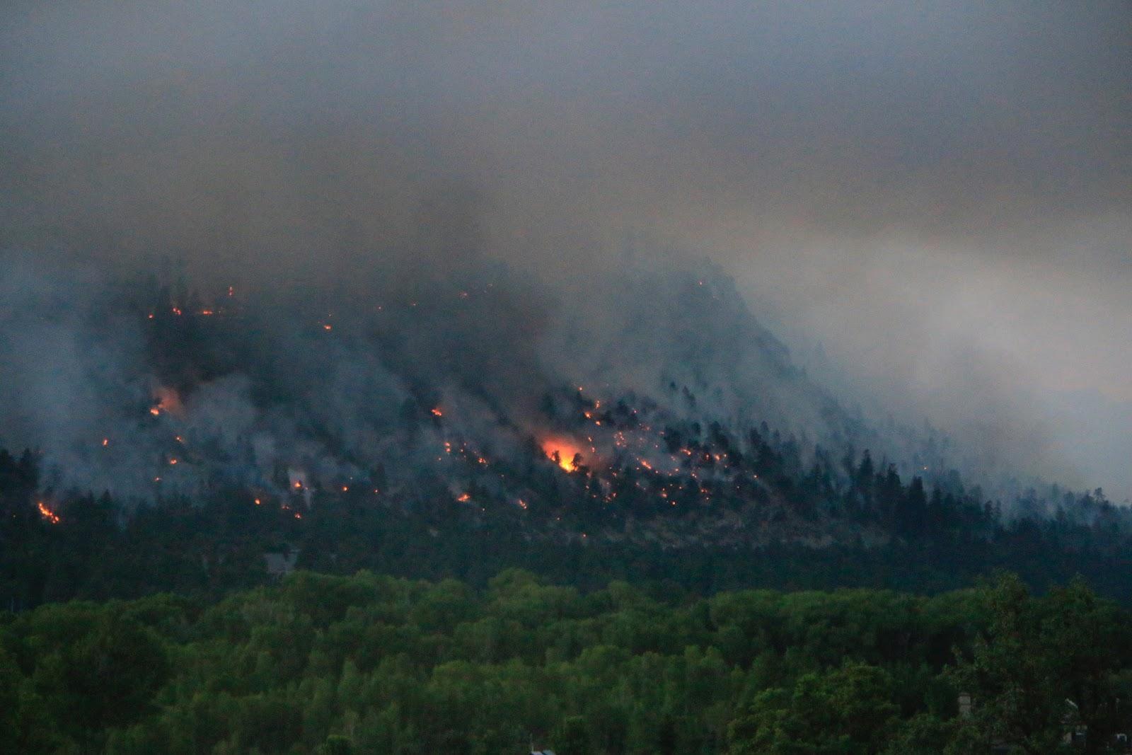 416 Fire, photo by Priscilla Sherman