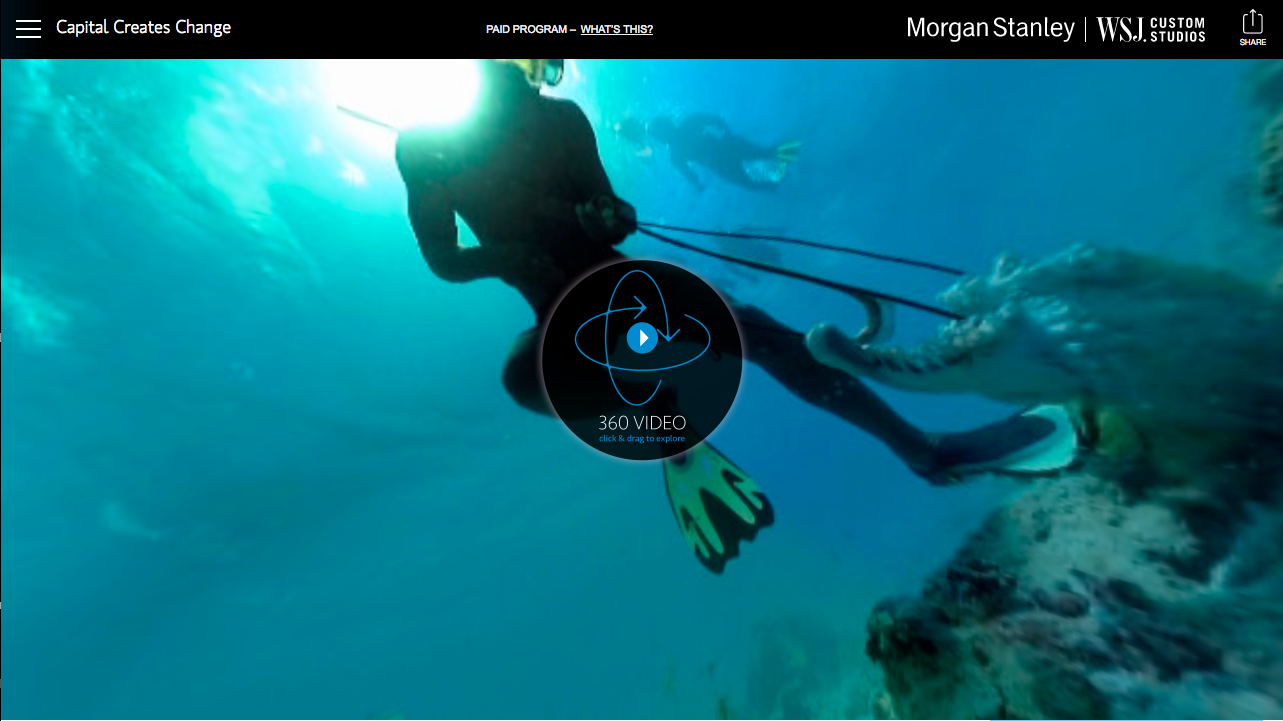 Client:  Morgan Stanley Virtual Reality Project   Location:  Tarawa, Kiribati