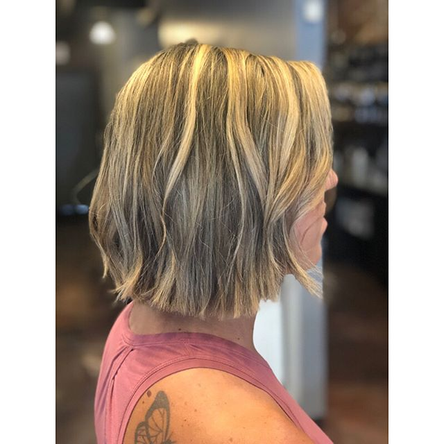 A big change for Jen yesterday!!! She had been getting tape in extensions for the past year and was ready for a change! We removed the extensions, chopped her into a bob and did the fullest full highlight!! In looove with the results!! #paulmitchellcolor #clevelandhairstylist #highlights #blonde #blondebalayage #babylights #blondehighlights #blondebob #texturedbob #texturedbobhaircut #clevelandhair