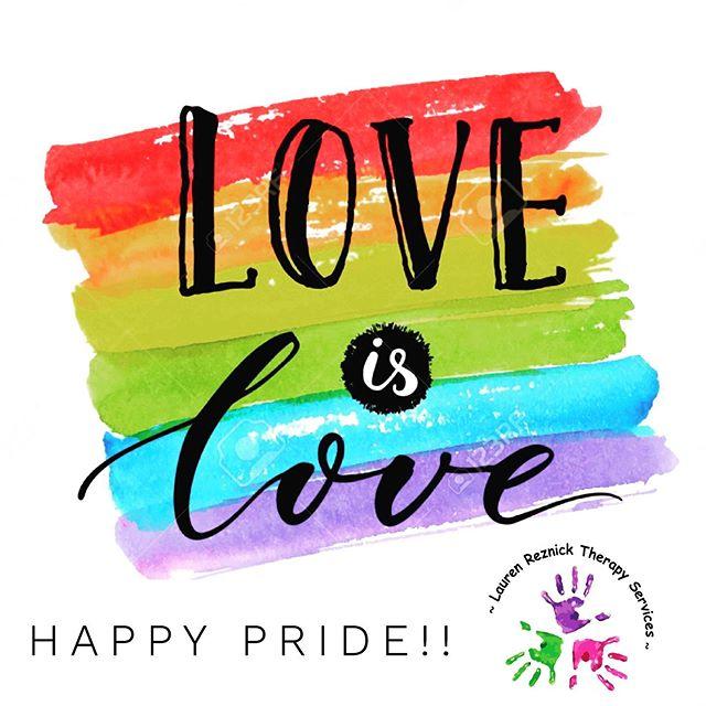 LOVE IS LOVE!! #loveislove #celebrate #celebratelove #pride #happypride #sunnyday #happyday #kids #families #toronto #pediatrictherapy