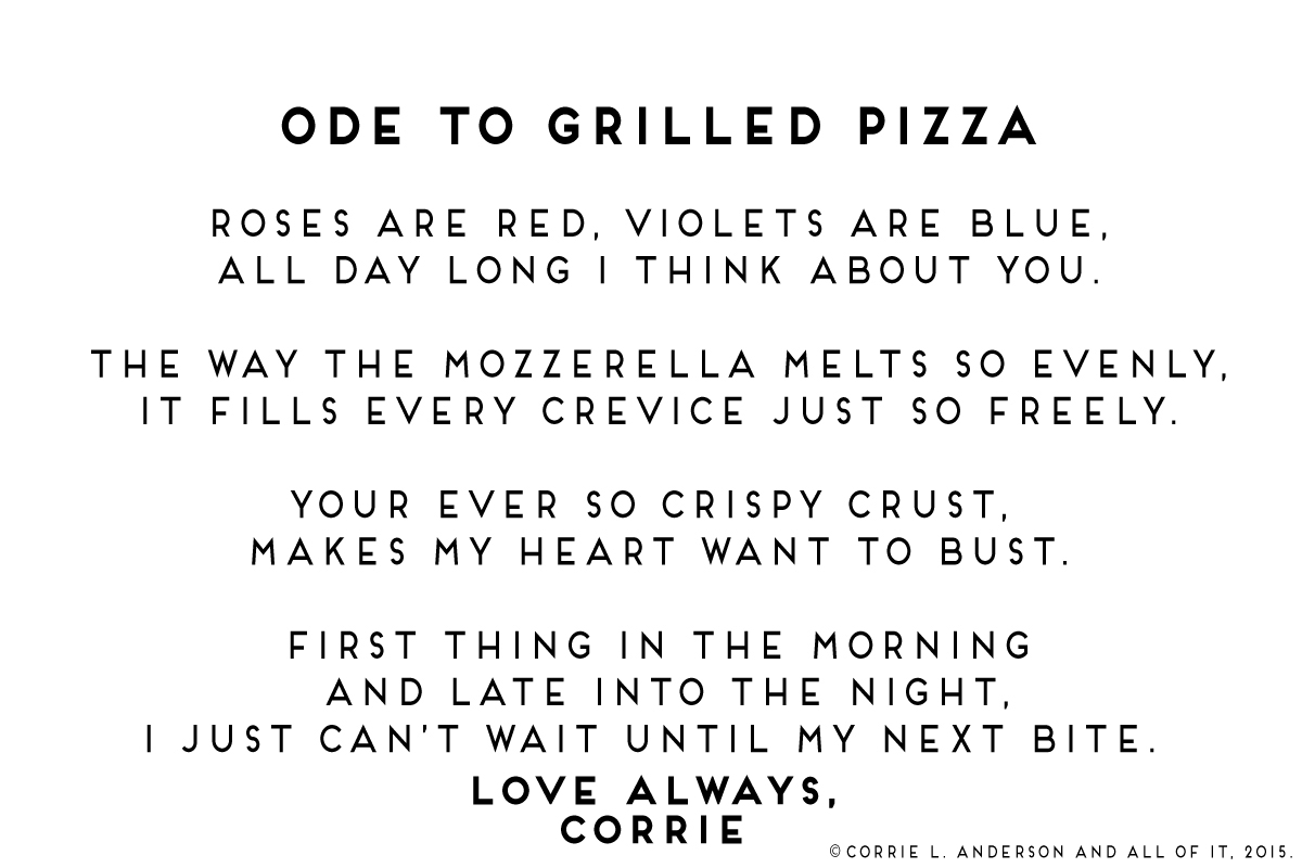 All of It - Ode to Grilled Pizza