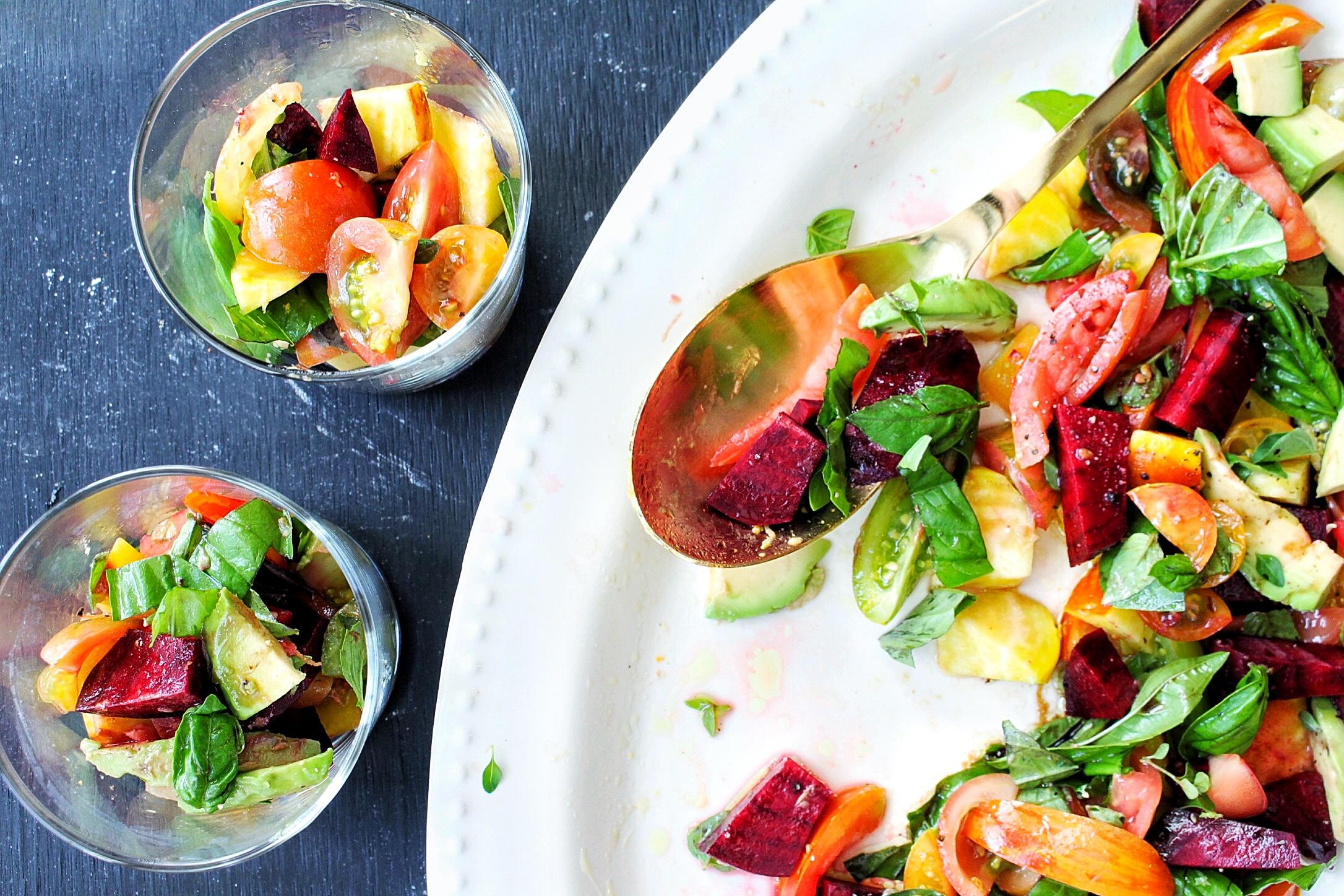 All of It - Heirloom Tomato/Beet/Avocado/Herb Summer Salad