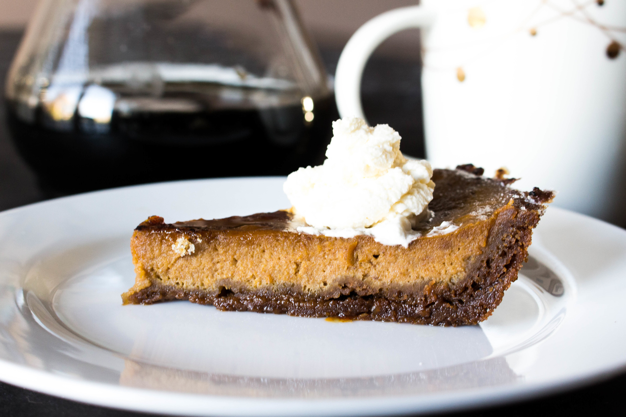 All of It - Brûléed Maple Pumpkin Pie with Gingersnap Crust