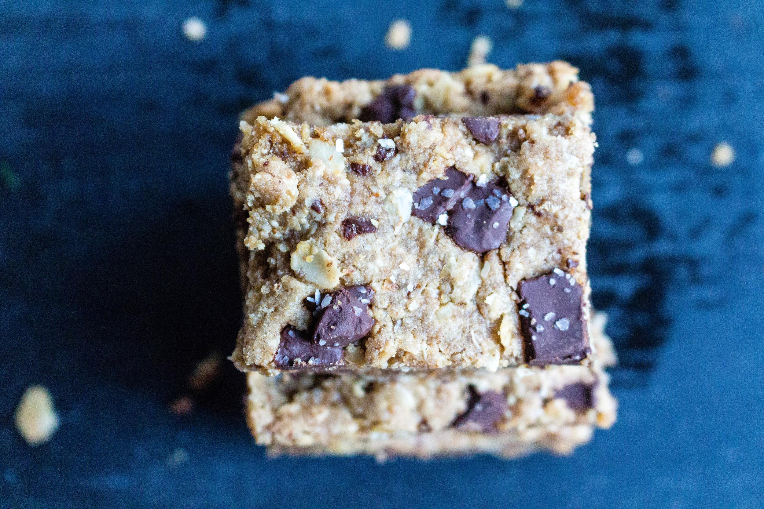 All of It - Healthier Dark Chocolate Oatmeal Bars