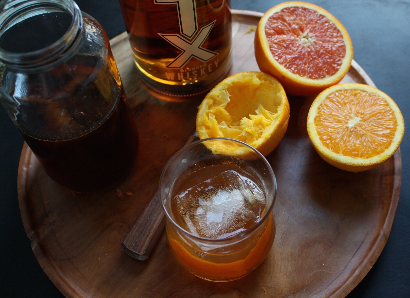 All of It - Flat Cap Cocktail - bourbon/whiskey + orange cream soda syrup + bitters