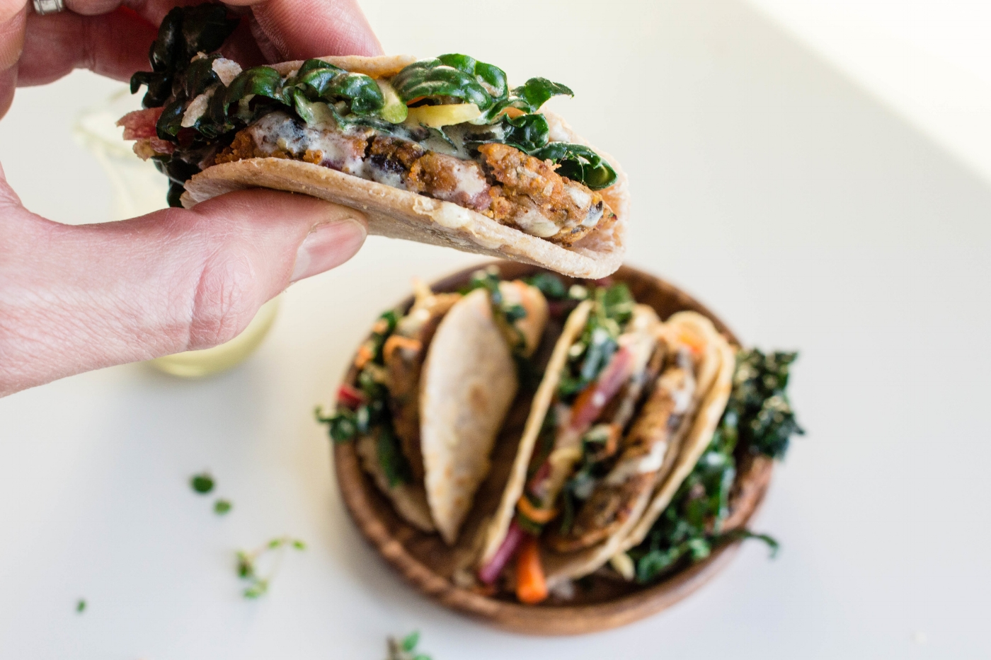 All of It - Sweet Potato Black Bean Falafel Tacos