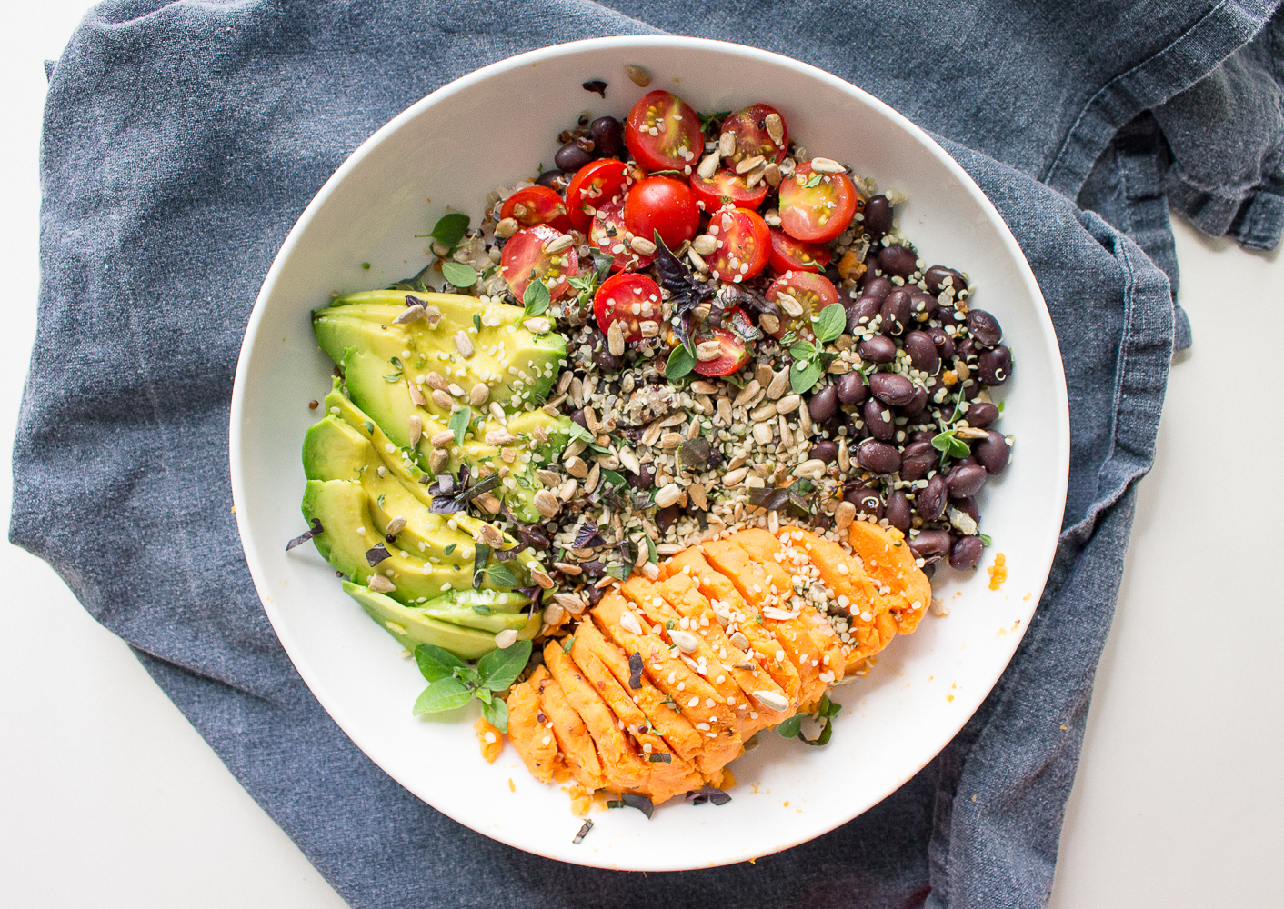 All of It - Quinoa, Black Beans, Sweet Potato, with Spicy Lime Sauce