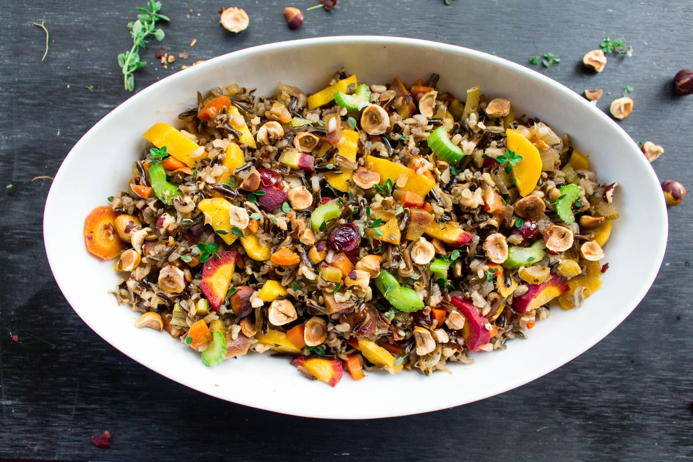 All of It - Wild Rice Dressing with Roasted Hazelnuts