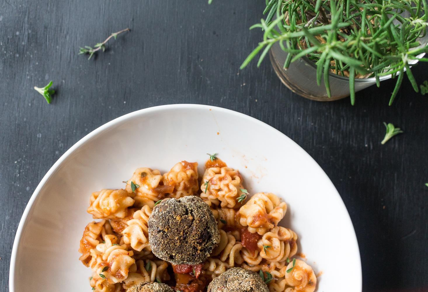 All of It - Vegan Lentil Mushroom Meatballs