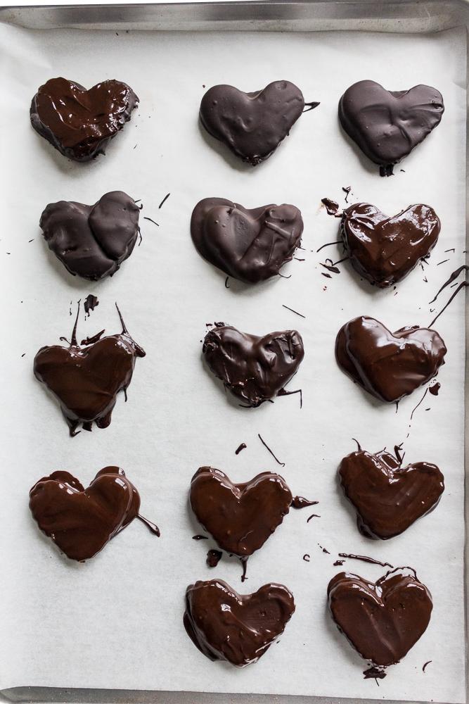 All of It - Vegan Dark Chocolate Peanut & Cashew Butter Hearts