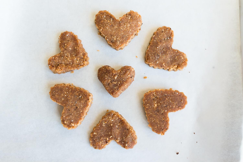 Vegan Dark Chocolate Peanut & Cashew Butter Hearts