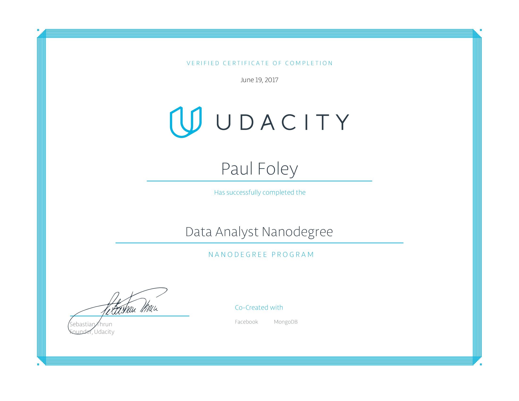 Udacity Nanodegree - Data Analyst