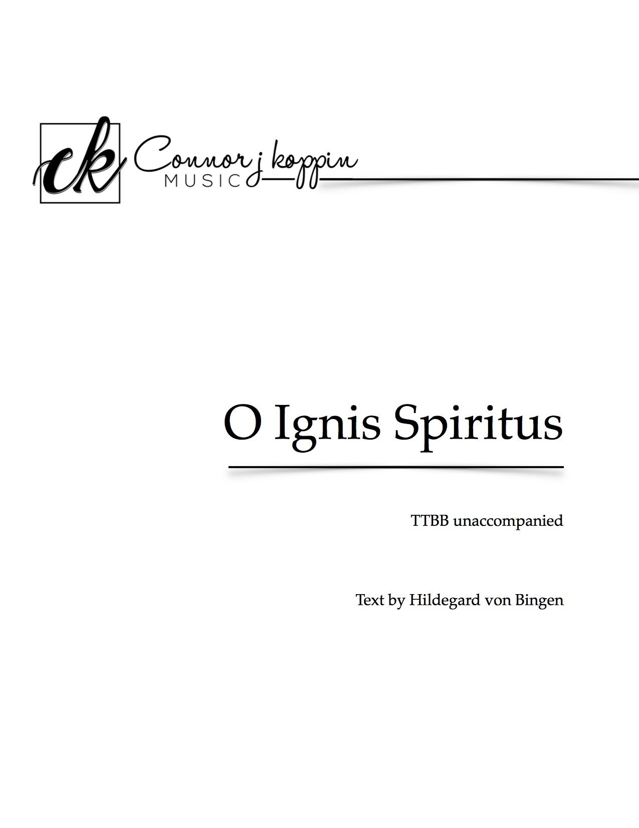 O Ignis Spiritus -