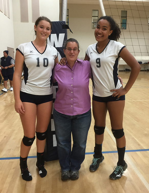 Viola and Jacque (babies number 403 and 410) are in 10th grade and play for the Waldorf High School. They were smaller than me once!!