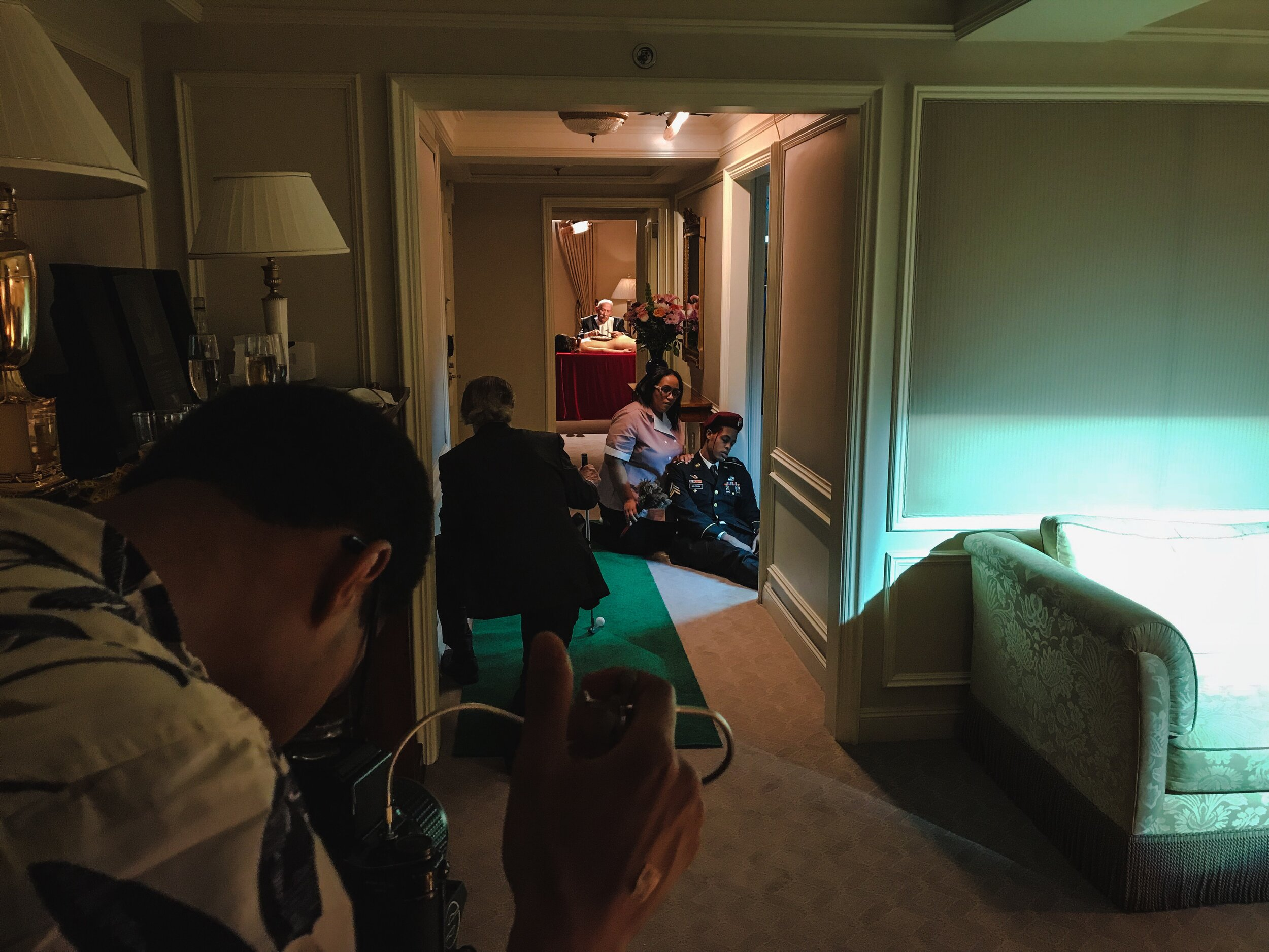 In this Behind-the-Scenes picture, I'm shooting just the hallway portion of the final image.