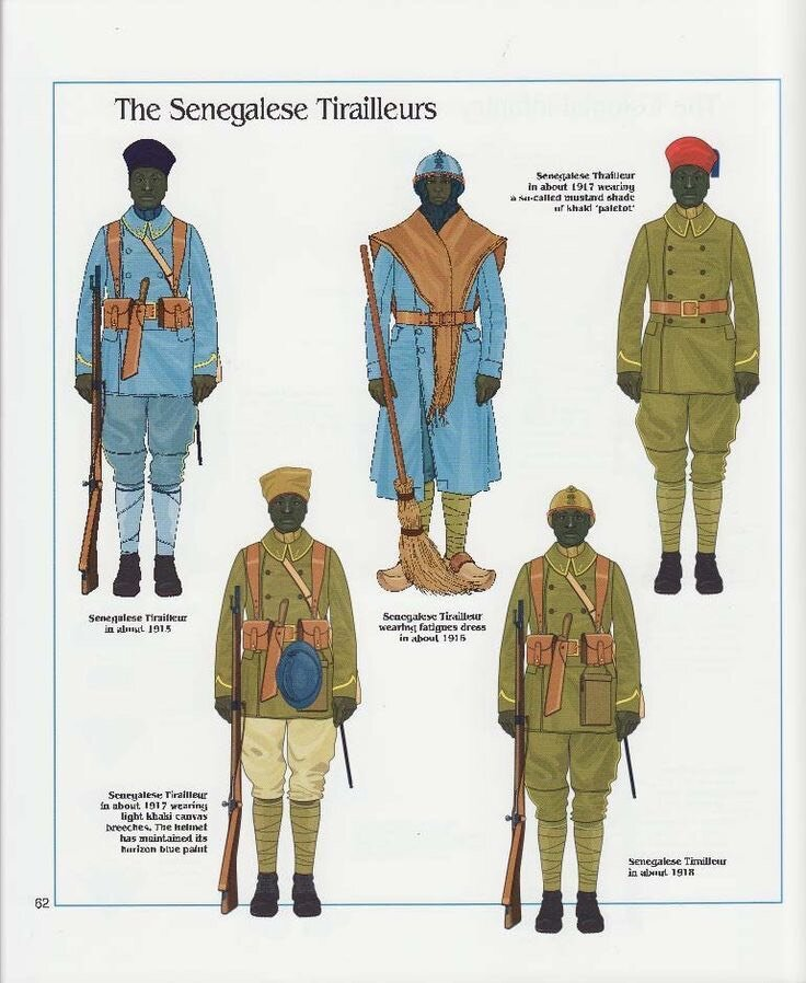 This image was a great reference for the Senegalese uniforms.
