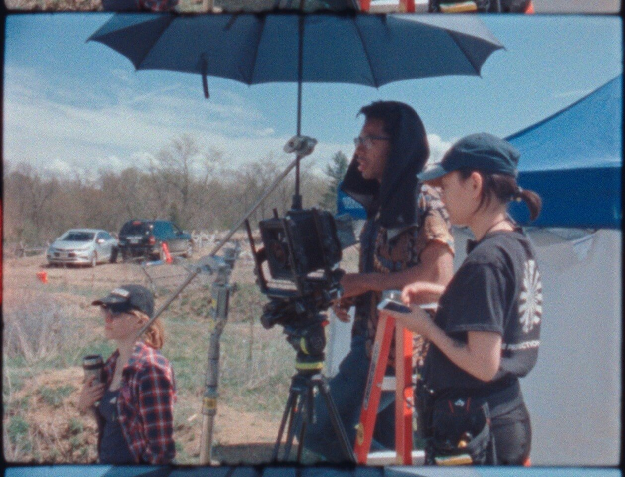This is me at the camera with my Camera Assistant,  Sunnie Kim  next to me on the ladder. She is also a phenomenal cinematographer.