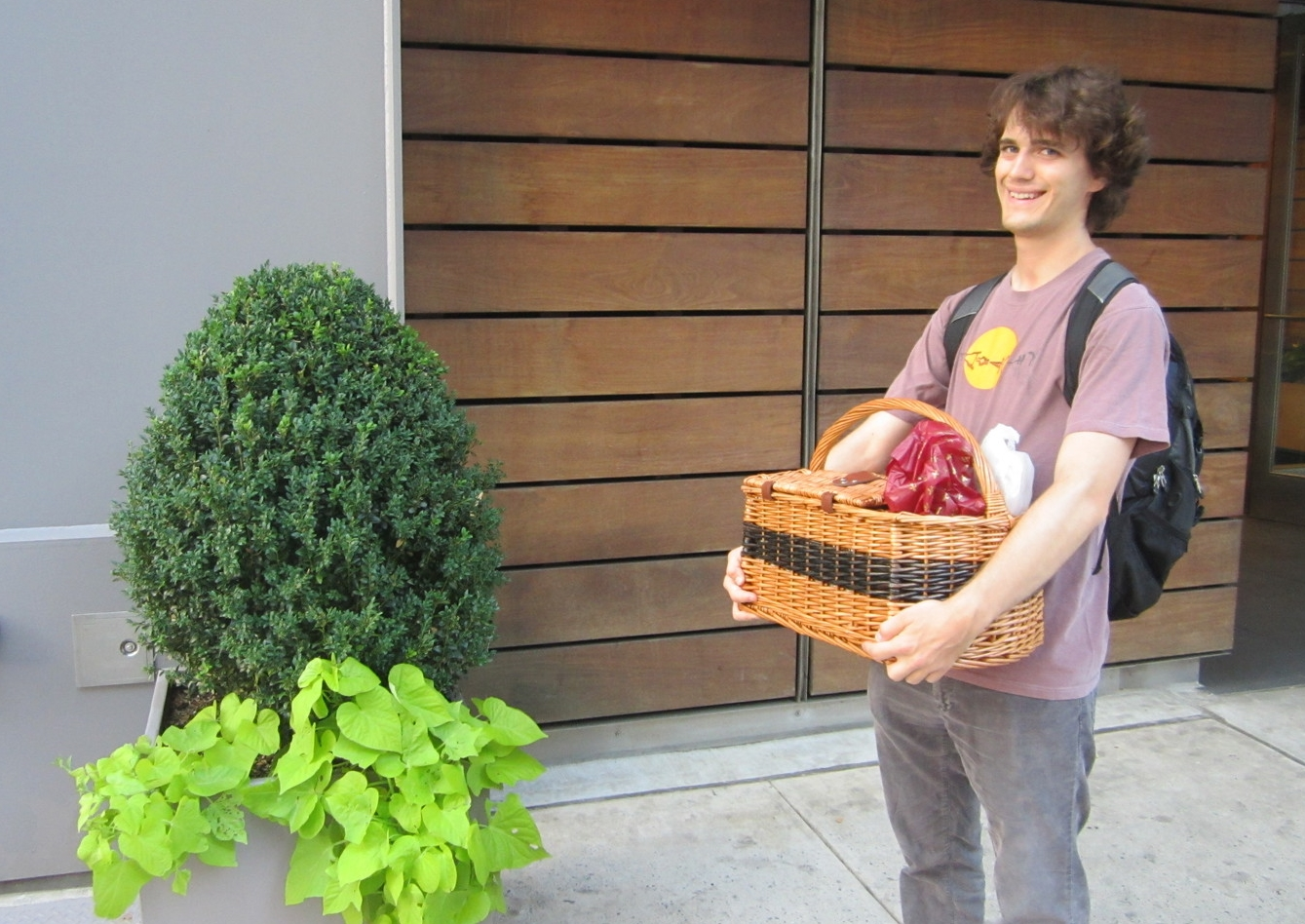 So Simon very chivalrously carried it all the way.