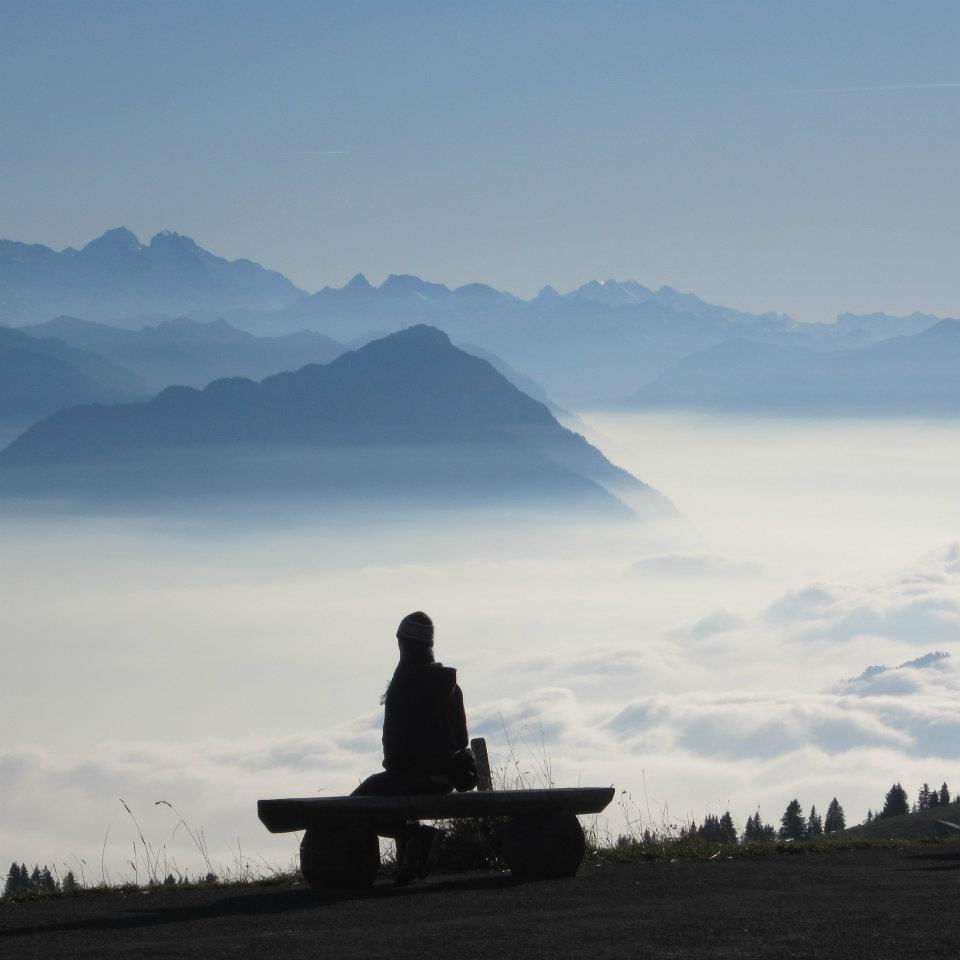 In lieu of a video for this section, I'll start us off with a picture of me on a mountain in Switzerland (taken by Adaora) around the time I found and listened to most of this music. I was undoubtedly contemplating Manau and intellectual proterty (actually I was wondering how it was possible to be above the clouds. Wut?)