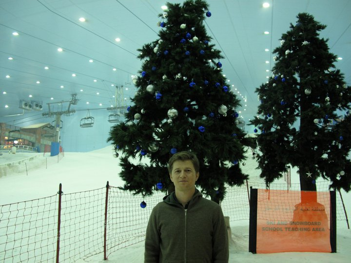Indoor skiing in Dubai.