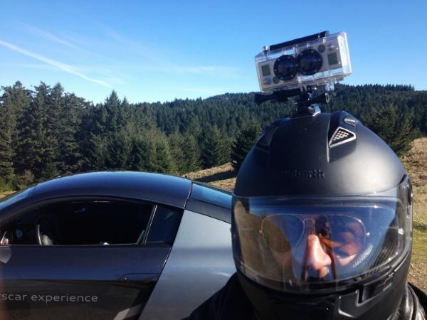 A 3D helmet-mount.