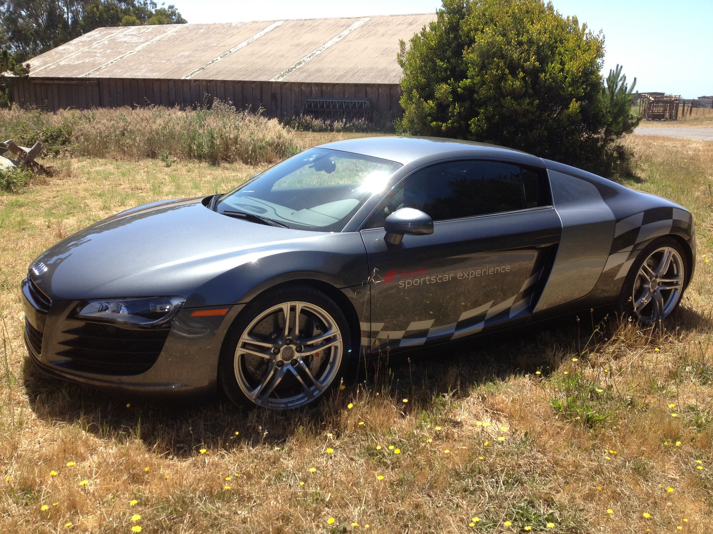 17 the R8 on location at Niman-Schell Ranch..JPG