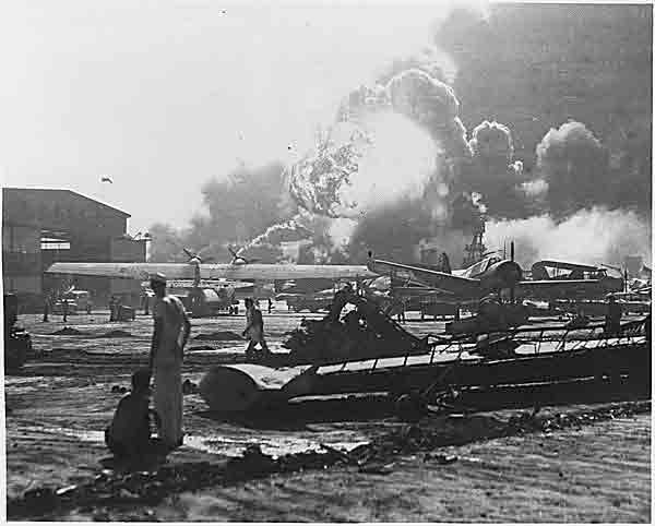 Aircraft Destroyed at Hickman Field