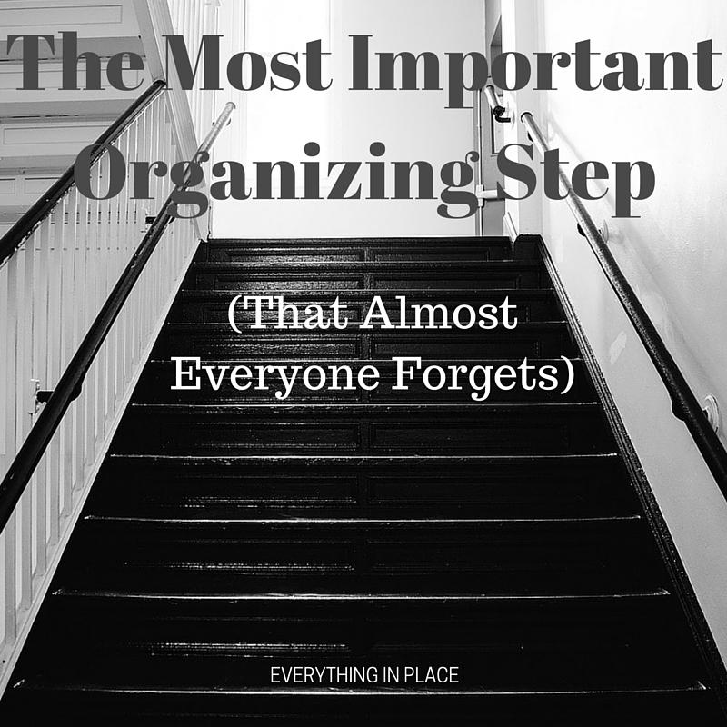 organizing steps