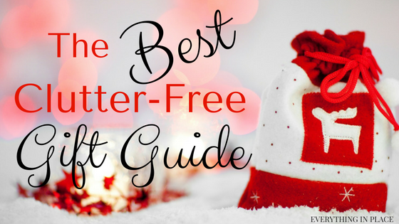 clutter free organized gift guide