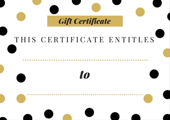 free printable gift certificates