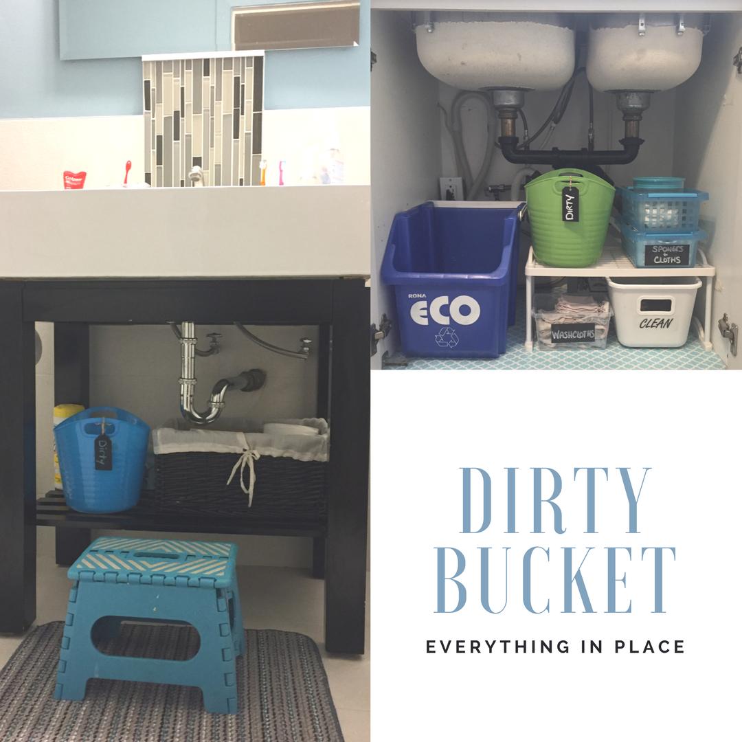 dirty laundry bucket