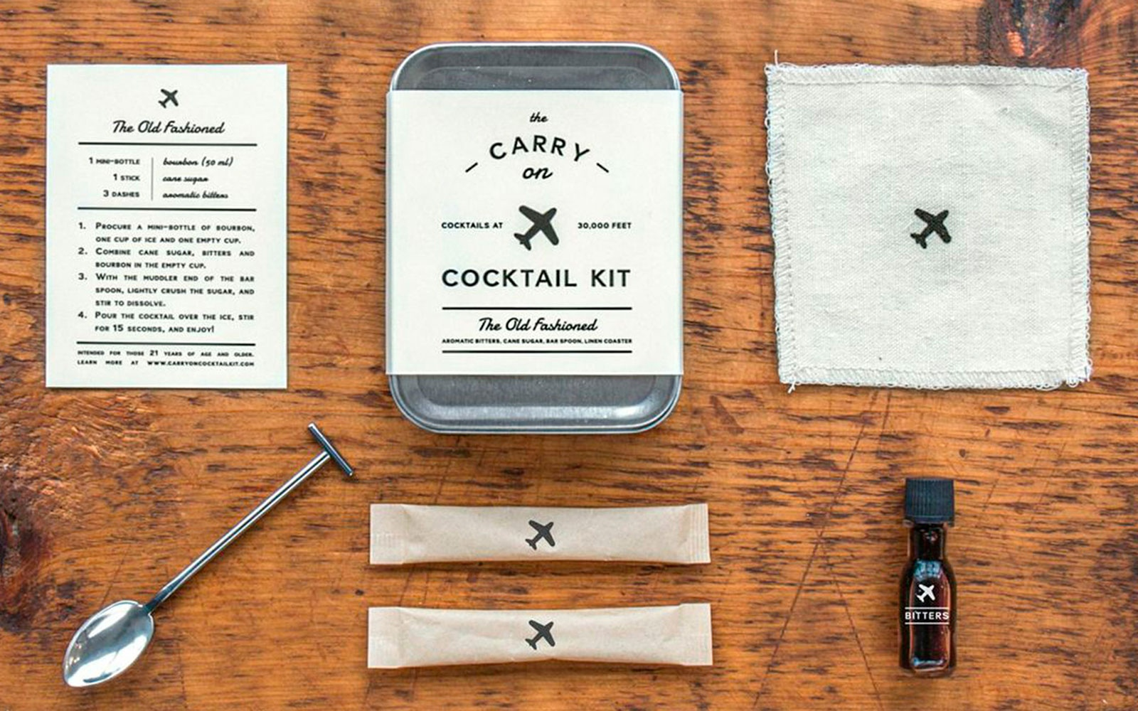 "Traveler's ""Carry On"" Cocktail Kit  (Old Fashioned)"