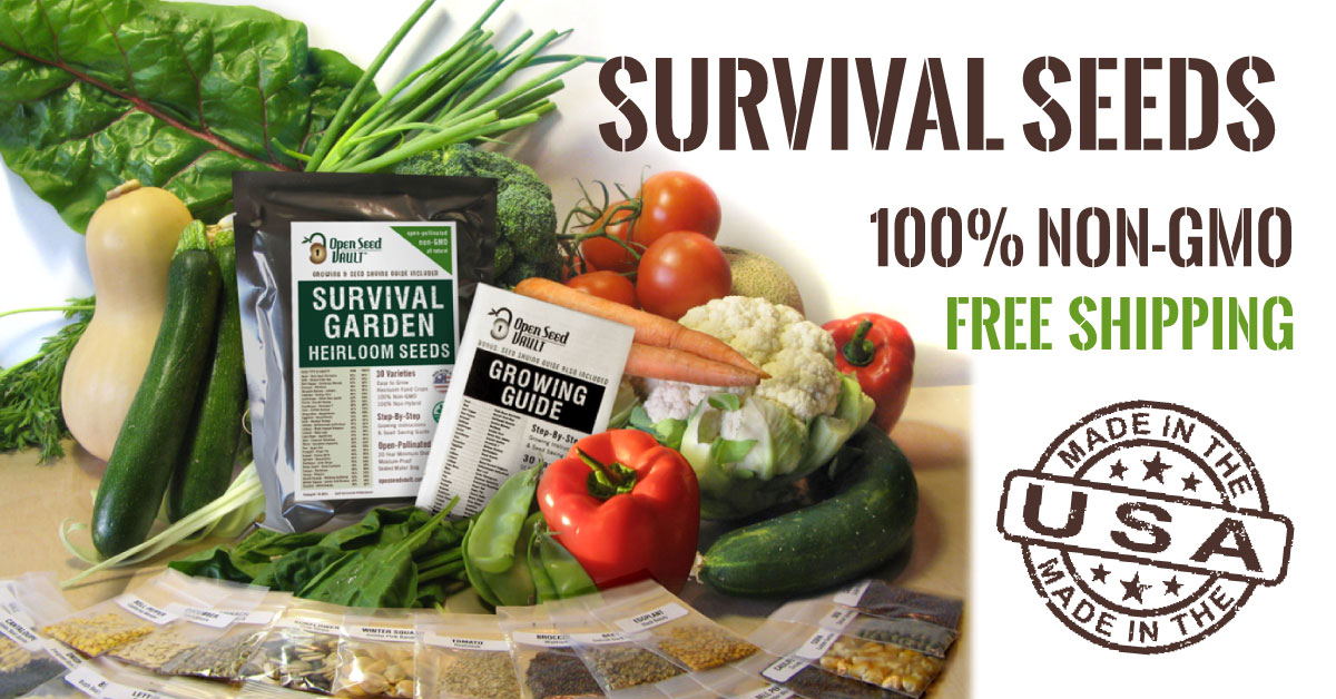 Emergency Survival Garden Heirloom Seed Pack, 32 varieties