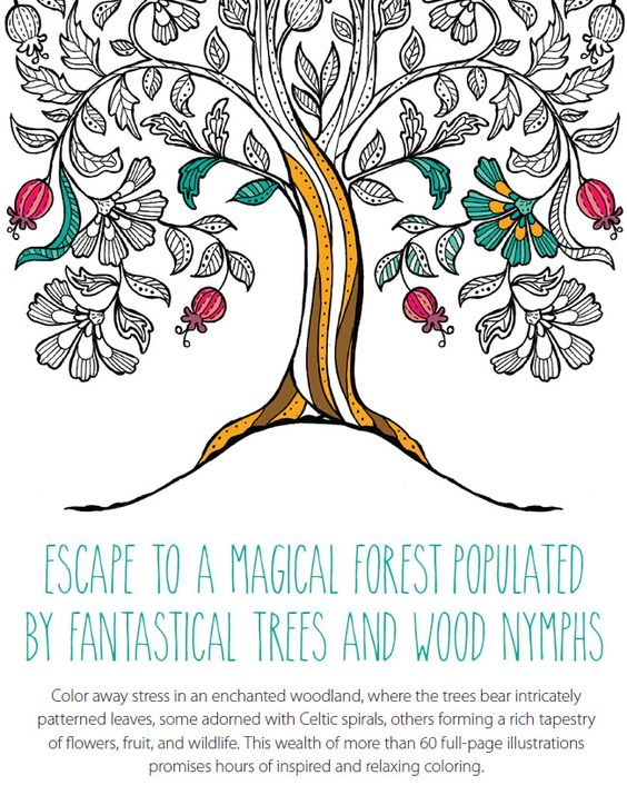 Keep Calm & Color: Tranquil Trees  Coloring Book for Adults
