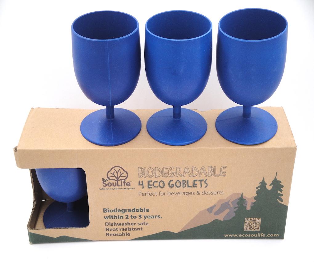 EcoSoulLife Bamboo Goblet Set