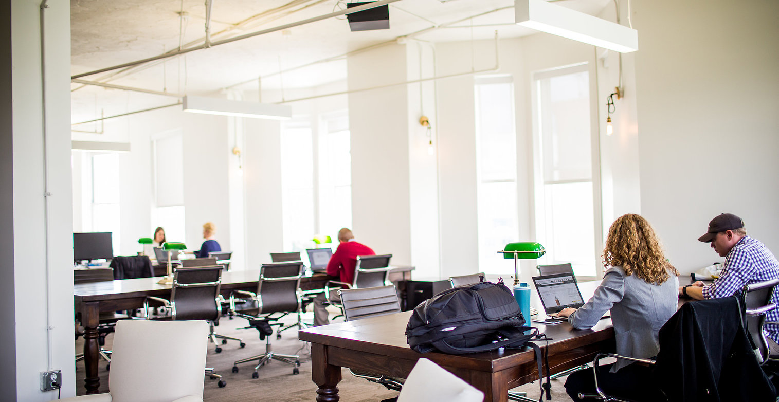 Post-renovation,  FlatironCity work space.