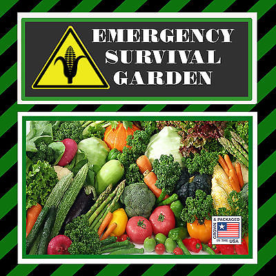 Emergency Survival Garden Heirloom Vegetable Seeds