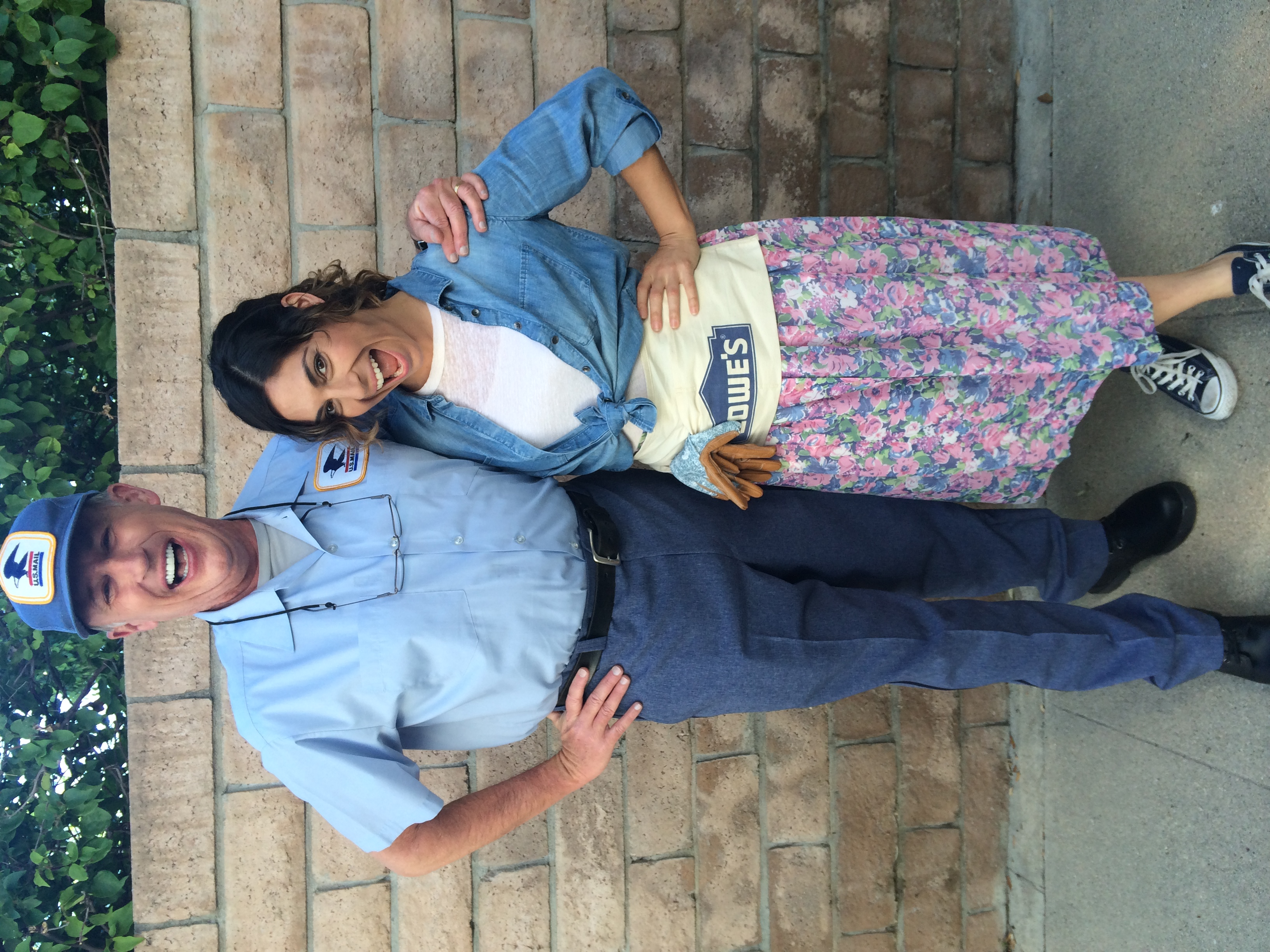 The mailman and I on set for Lowe's Hypermade Commercial