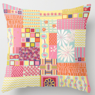 Spring Floral Patch Pillow