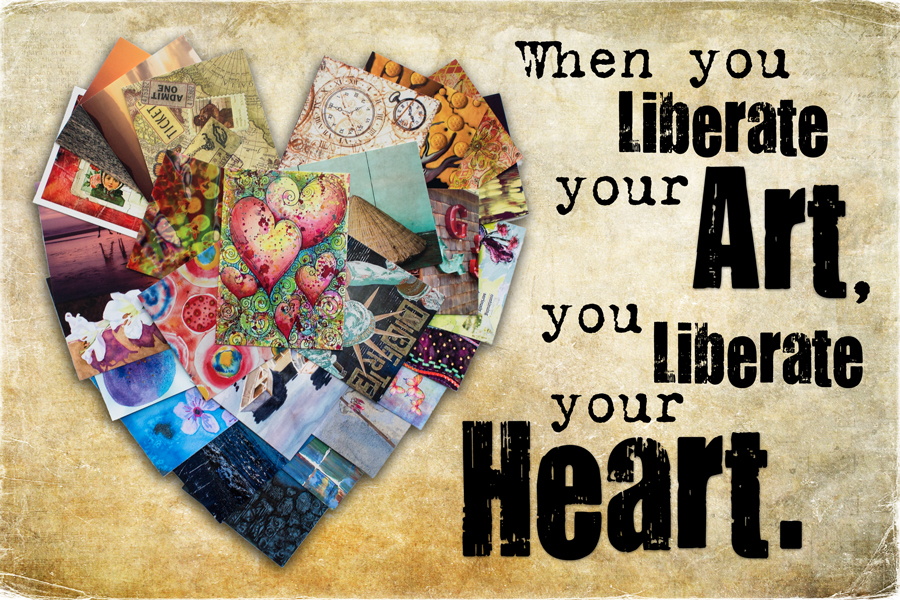 2014 L  iberate Your Art Postcard Swap