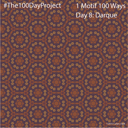 """""""Darque"""", by Carlyn Clark of """"The 1 Motif 100 Ways"""" series for day 8 of """"The 100 Day Project"""""""