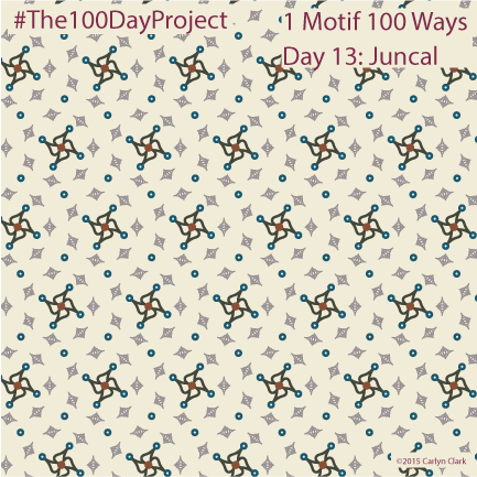 """""""Juncal"""", by Carlyn Clark of """"The 1 Motif 100 Ways"""" series for day 13of """"The 100 Day Project"""""""