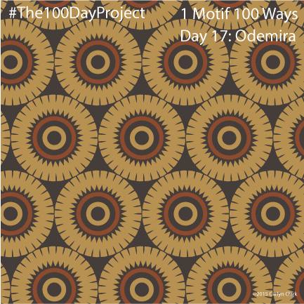 """""""Odemira"""", by Carlyn Clark of """"The 1 Motif 100 Ways"""" series for day 17 of """"The 100 Day Project"""""""