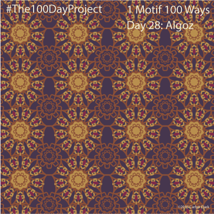 """""""Algoz"""", by Carlyn Clark of """"The 1 Motif 100 Ways"""" series for day 28of """"The 100 Day Project"""""""